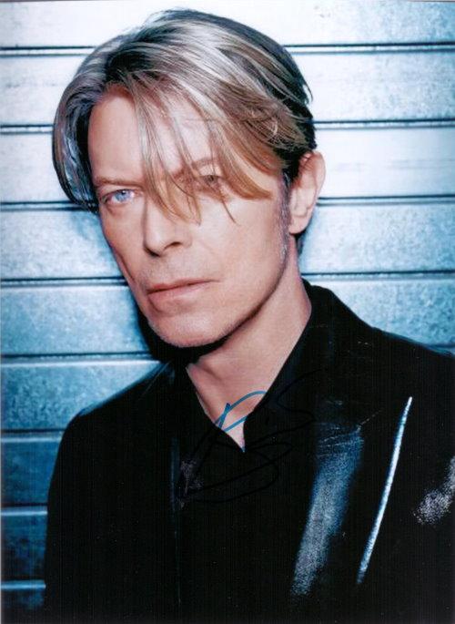 David Bowie Autogramm
