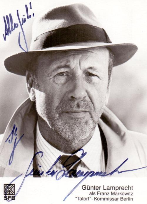 Günter Lamprecht Autogramm