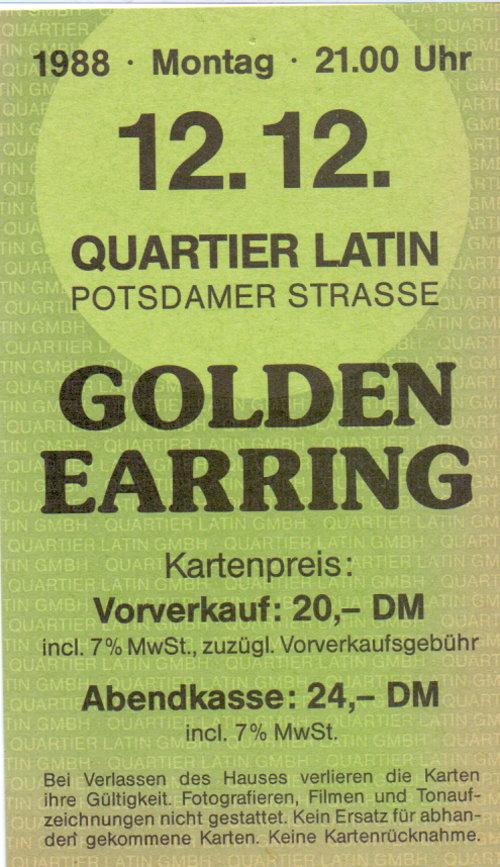 Golden Earring Ticket