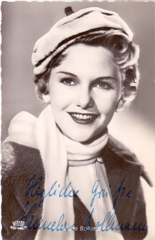 Hannelore Bollmann Autogramm