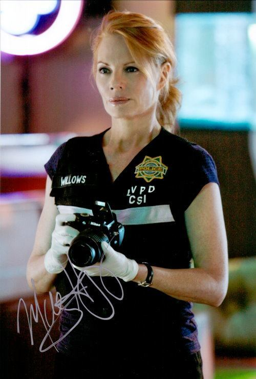 Marg Helgenberger Autogramm aus CSI Vegas