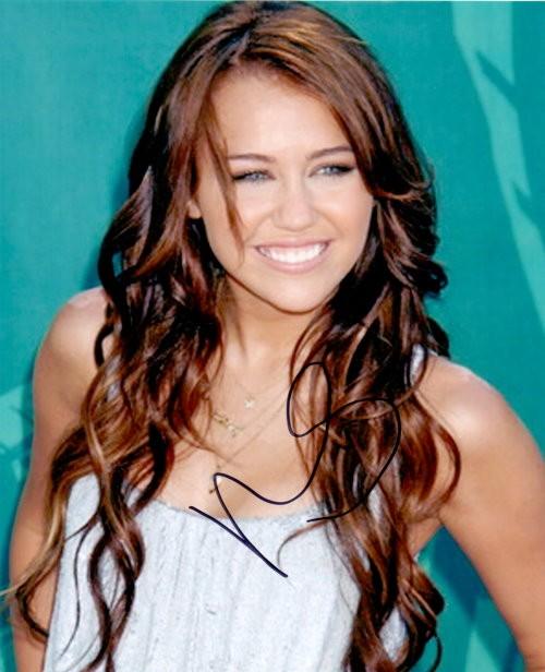 Miley Cyrus Autogramm