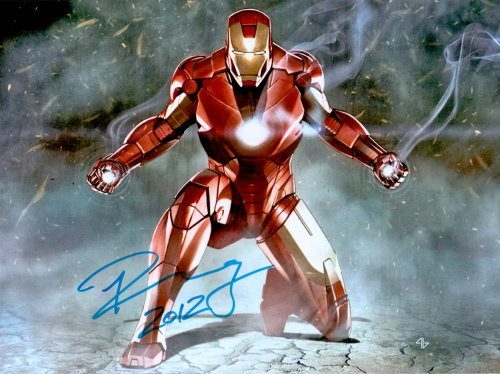 Robert Downey Jr Autogramm als Iron Man