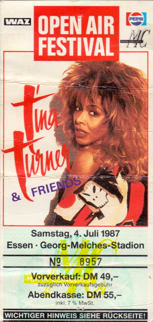 tina turner ticket