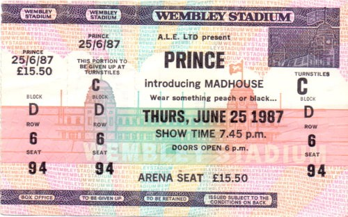 Prince - Ticket