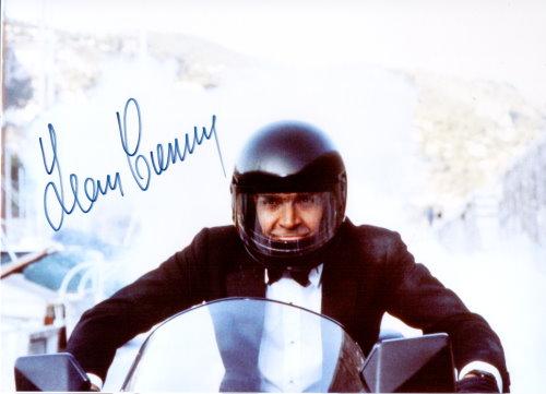 Sean Connery Autogramm als James Bond