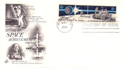 APOLLO 11 - Ersttagsbrief Decade