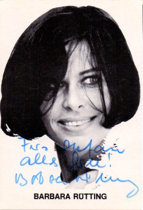 Barbara Rütting Autogrammkarte