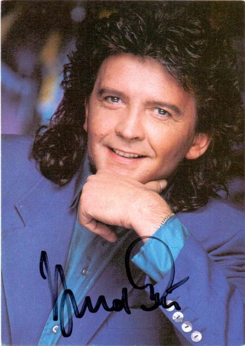Bernd Clüver Autogrammkarte