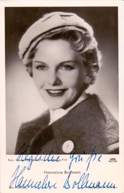 Hannelore Bollmann Autogrammkarte