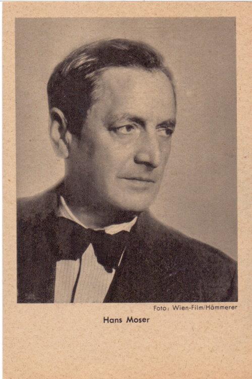 Hans Moser - Autogrammkarte