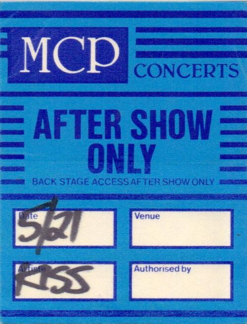 KISS - Original After Show - Tourpass