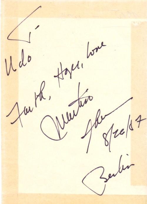 Martin Sheen Autogramm