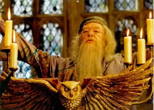 Michael Gambon aus Harry Potter Autogramm