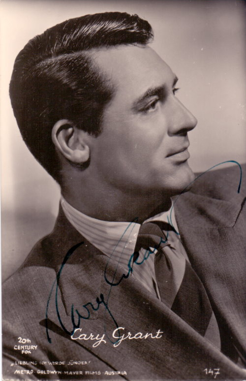 Cary Grant Autogramm
