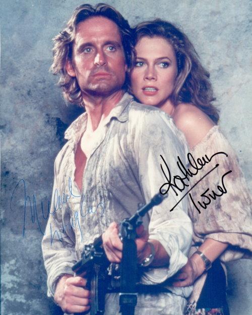 Michael Douglas + Kathleen Turner