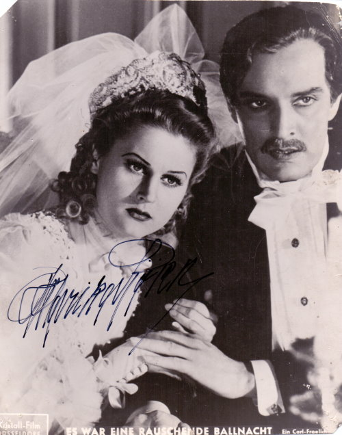 Marika Rökk - Autogramm