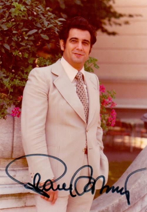 Placido Domingo Autogramm