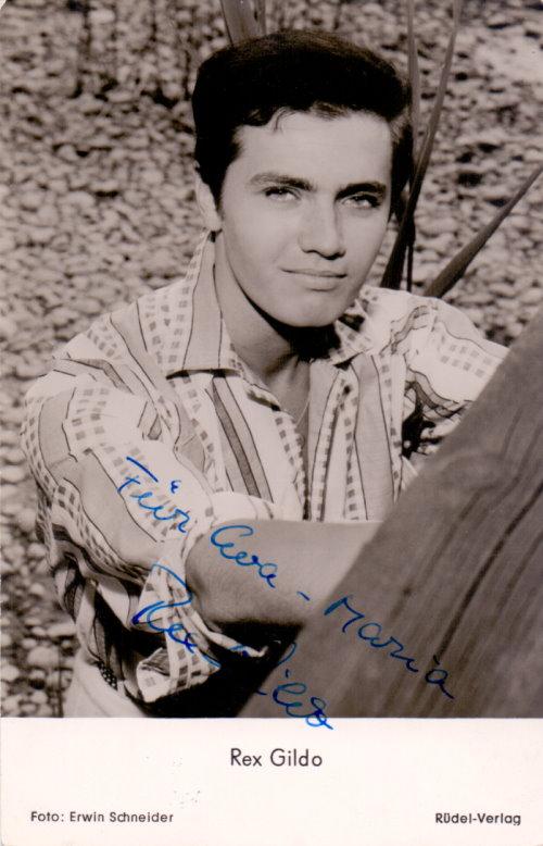 Rex Gildo - signierte Autogrammkarte