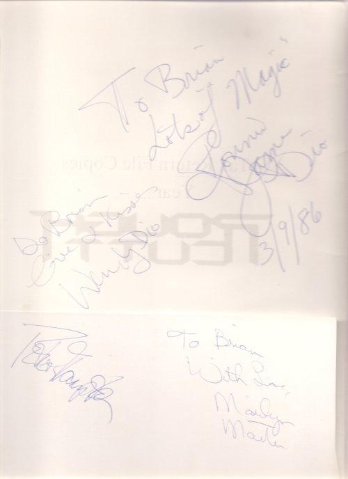 Rockmusiker Autogramme
