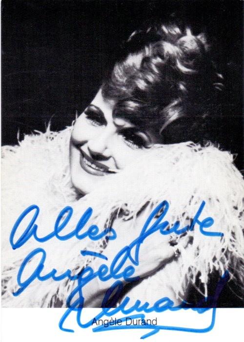 Angele Durant Autogramm