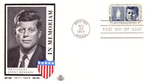 John F. Kennedy Ersttagsbrief