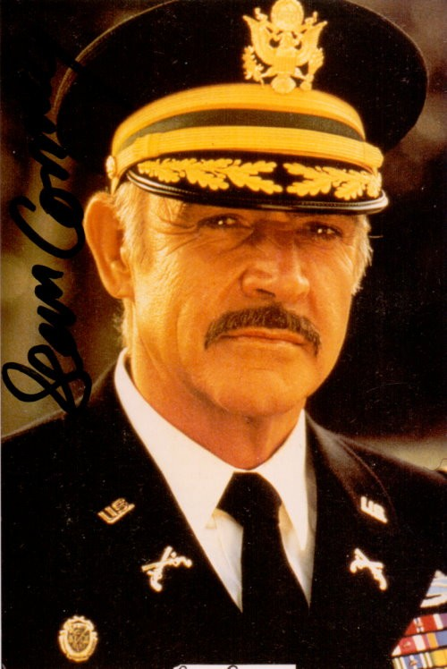 Sean Connery signierte Autogrammkarte