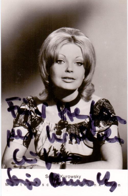 Sonja Kurowsky Autogramm