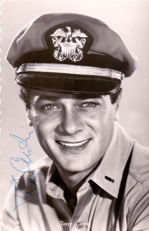 Tony Curtis Autogrammkarte