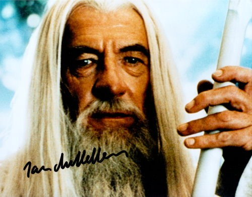 Ian McKellen signiertes Foto