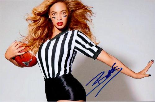Beyonce' Autogramm