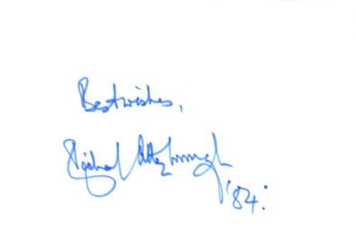 Sir Richard Attenborough Autogramm