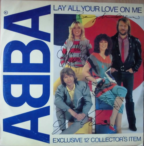 ABBA - signierte Maxi-LP