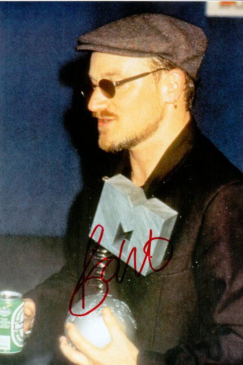 Bono von U2 Autogramm