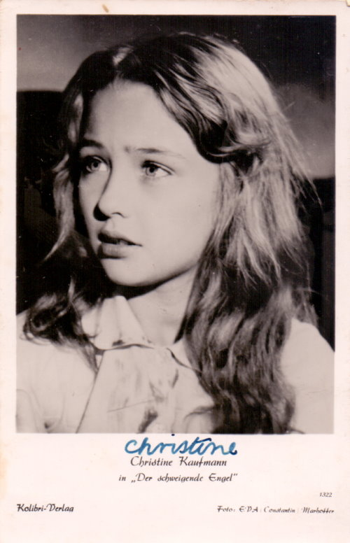 Christine Kaufmann - junges Autogramm