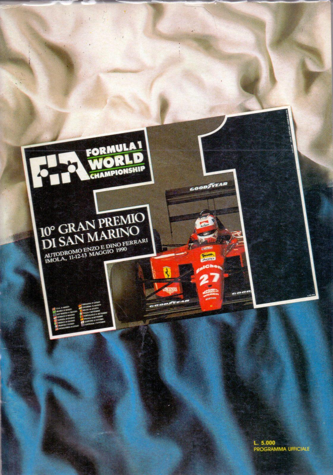 Offizielles Formel 1 Programm von Mai 1990