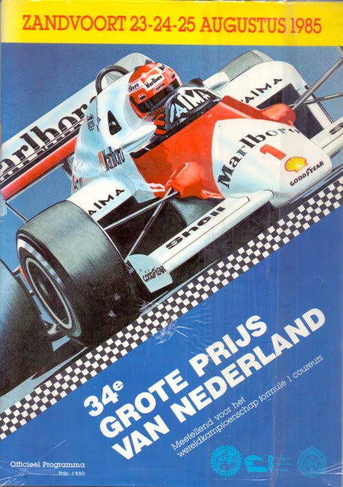 Offizielles Formel 1 Programm von August 1985