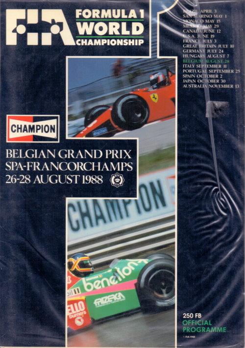 Offizielles Formel 1 Programm von August 1988