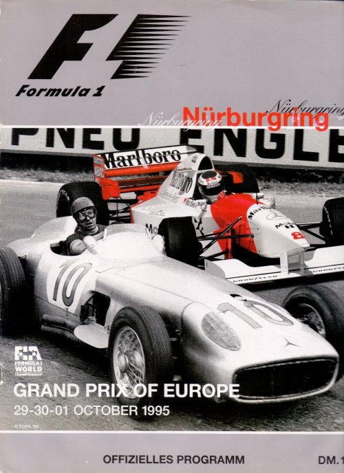 Formel 1 Programm von Oktober 1995 - mehrfach signiert