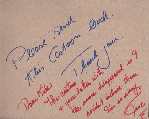 Jane Russell - signierte und beschriftete Pappe