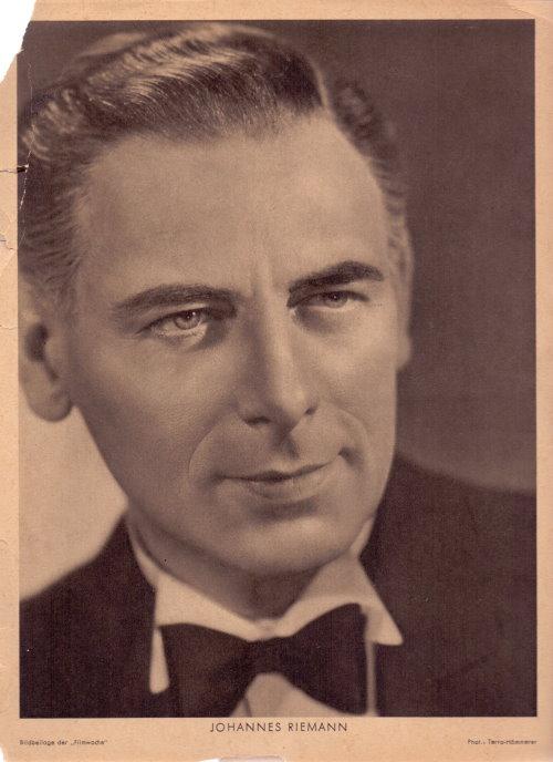 Johannes Riemann Bildbeilage der Filmwoche
