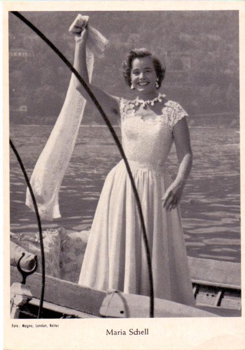 Maria Schell - Starpostkarte