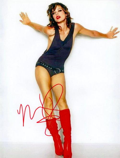 Milla Jovovich Autogramm