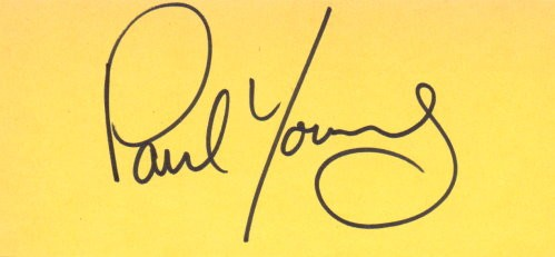Paul Young Autogramm