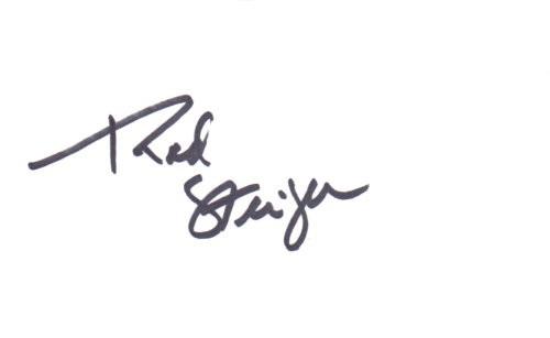 Rod Steiger Autogramm