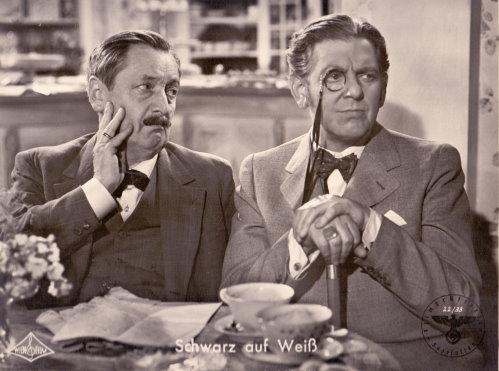 Hans Moser - Kino-Aushangfoto Schwarz Auf Weiß