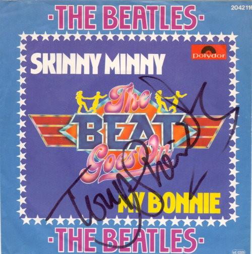 Tony Sheridan - signierte Beatles Schallplatte My Bonnie