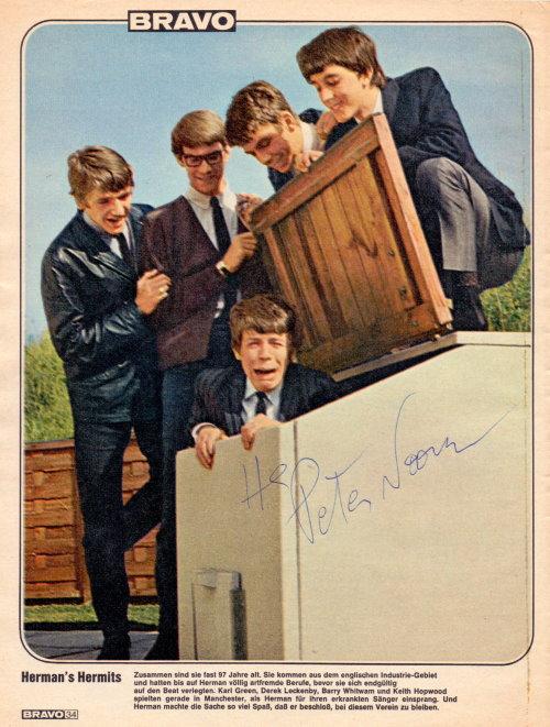 Peter Noone - Herman's Hermits - Autogramm