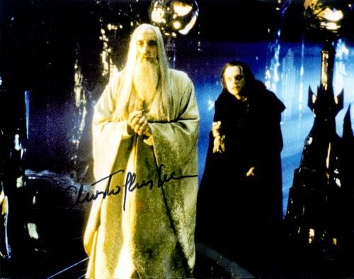 Christopher Lee Autogramm aus Herr Der Ringe