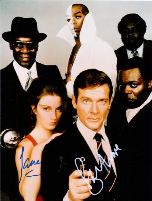 James Bond Duo - Autogramm Leben und Sterben lassen